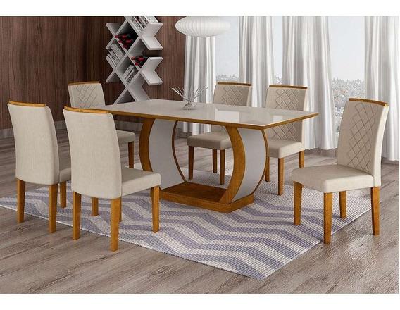 Conjunto De Mesa De Jantar Com 6 Cadeiras Maia I Veludo I...