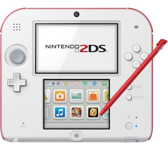 Nintendo 2ds Novo Lacrado + 20 Jogos 3ds + 32gb + Fonte