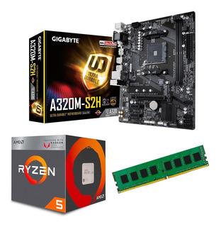 C122 Combo Actualizacion Amd Ryzen 5 + Mother + 8gb Mexx