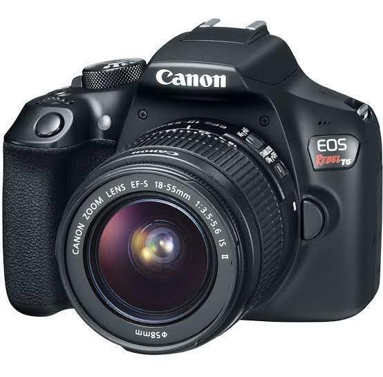 Canon T6 + Cartão De Memória De 32 Gb