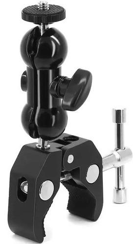 Braçadeira C/ Braço Articulado Led Microfone Action Cam