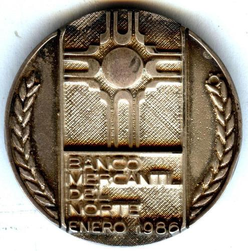 Medalla Grupo Banorte    Enero De 1986    (ver Descripción)