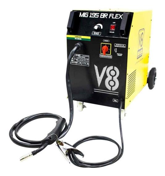 Máquina De Solda Mig 195a Com Ou Sem Gás Flex 220v 195br V8