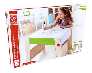 Juego Mesa Y Silla Infantil Madera Dibujo Hape E1015 Edu