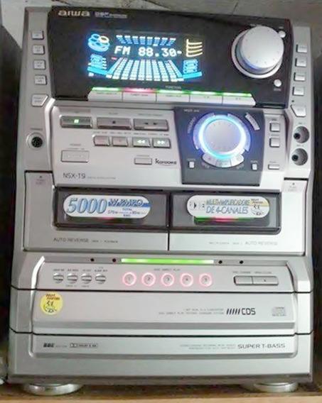 Micro System Aiwa Nsx-t9 - Peças ;6090