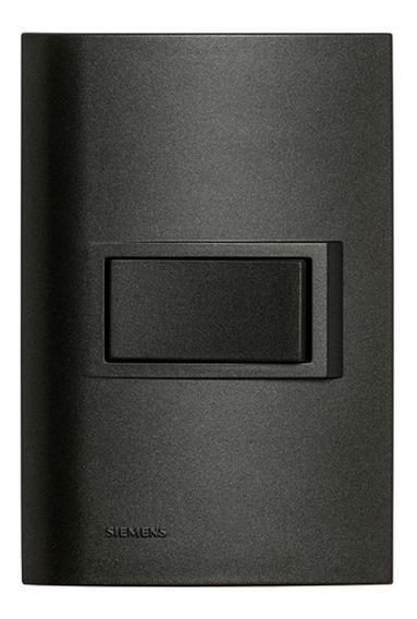 Interruptor Simples 4x2 Vivace Carbono Siemens Siemens