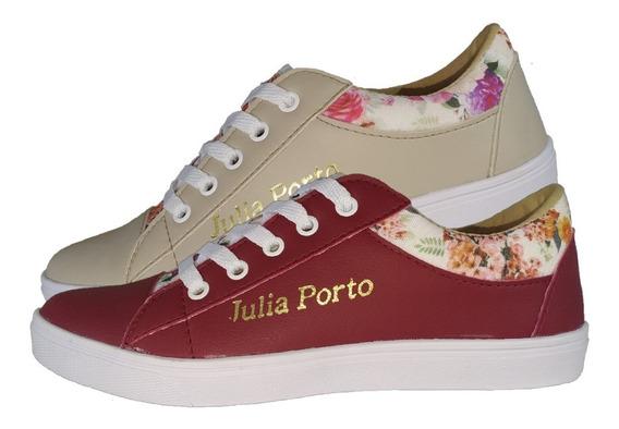 Kit 2 Tênis Feminino Floral Julia Porto Calçados Sapatênis