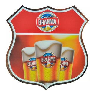Quadro Decorativo Route Bar- Sala - Cerveja Brahma Chopp