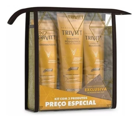 Kit Manutenção Home Care Trivitt Com Leave-in (3 Produtos)