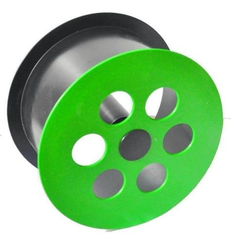 Carretilha Carretel Para Linha De Pipa Com Rolamentos Verde!