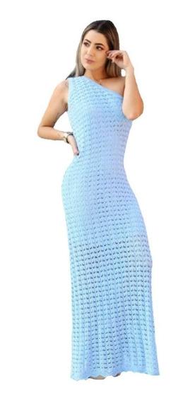 Vestido Feminino Longo Tricô Lancamento Rendado Festa Promoção Tricot Casamento Roupas Femininas