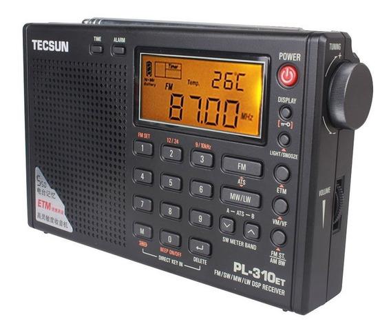 Rádio Tecsun Pl-310et Digital Dsp Pll Fm Am Sw ( Degen Sony