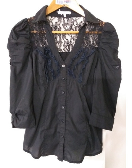 Camisa Encaje Mujer Impecable Talle 36