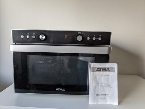 Microondas Grill Atma Easy Cook Mc934xe  Negro 34l 220v