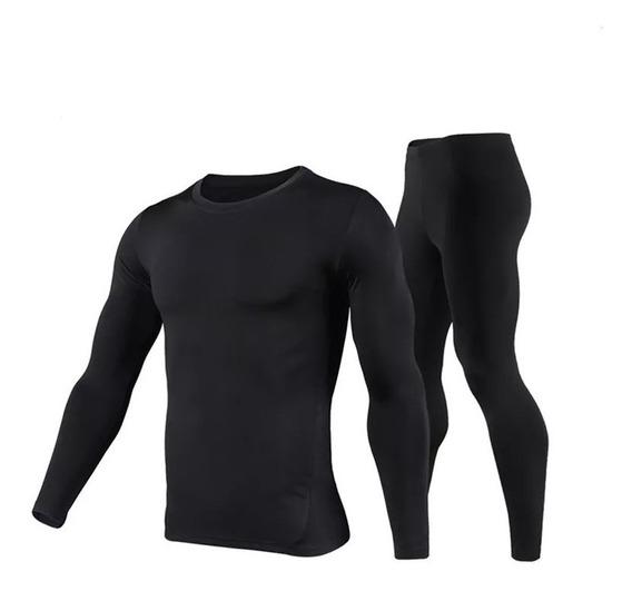 Conjunto Calça + Blusa Térmica Segunda Pele Proteção Uv