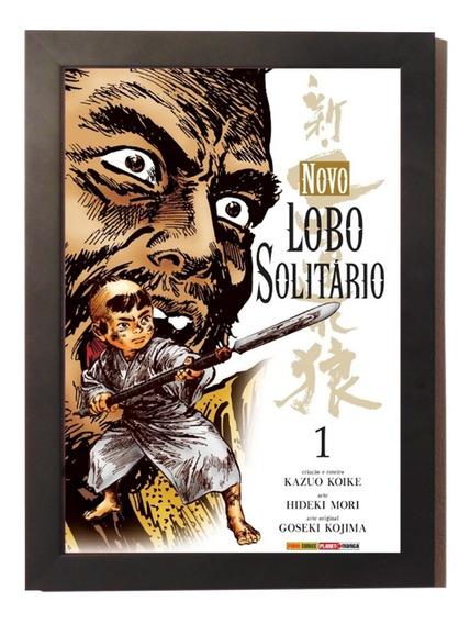 Quadro Poster C.moldura Anime Manga Lobo Solitário