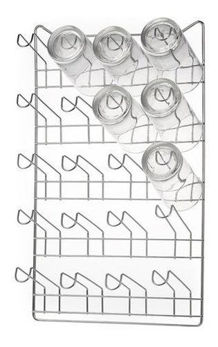 Imagem 1 de 4 de Escorredor Copo 20 Lugares Parede Secador Porta Copo 127