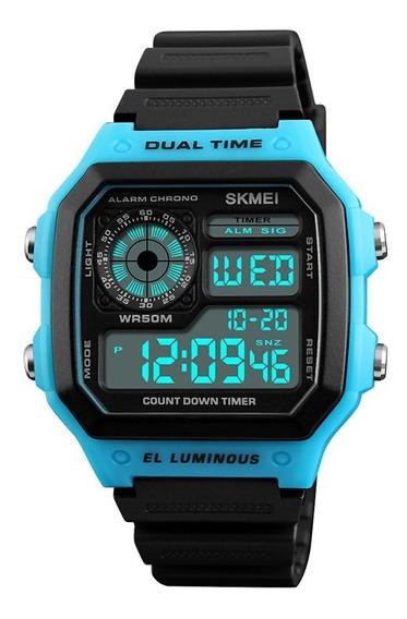 Reloj Skmei 1299 Deportivo Militar Sport Led 3 Colores