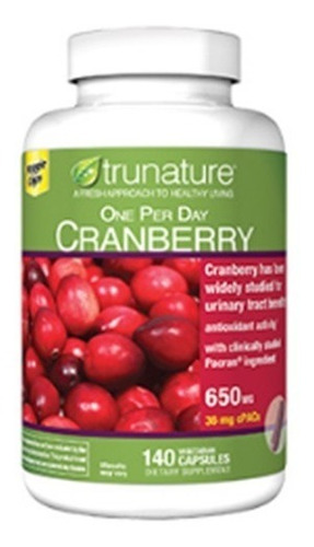 Cranberry Trunature 650 Mg 140 Capsulas Blandas