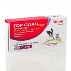 Top Gard Plus - 4 Comprimidos Vermifugo Cães Promoção