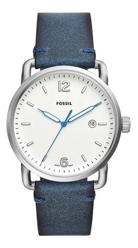Relógio Fossil Couro Azul - Fs5432/0an