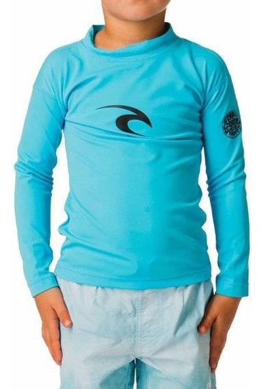 Camiseta De Lycra Rip Curl Grom Blue Infantil Masculino