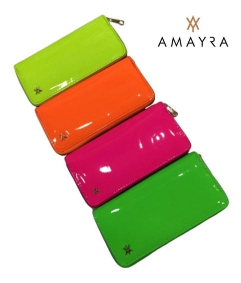 Billetera Mujer Importada Amayra Original Fichero Colores