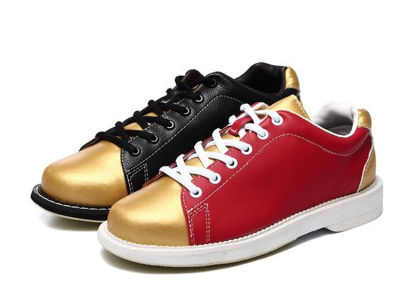 Sapatos Masculinos De Bowling Couro Esporte Atlético Sapato