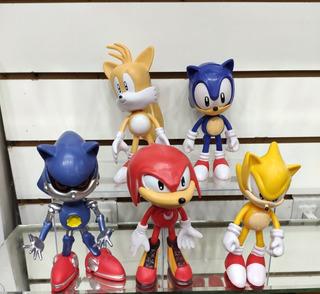Muñecos Sonic El Erizo Nudillos Tails Articulados 15 Cm