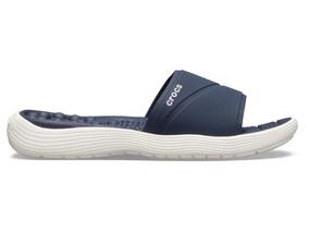 Sandalia Dama Crocs Masaje Reviva Slide Marino