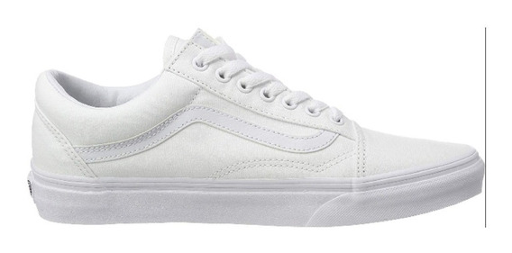 Zapatillas Vans Old Skool Originales True White Blanco/negro