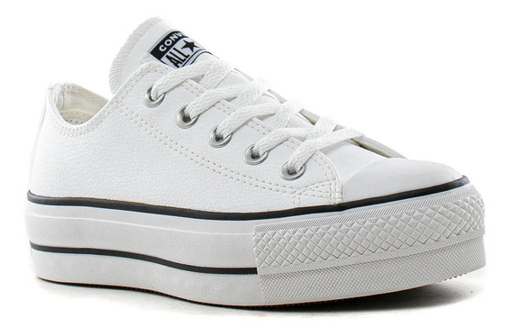 Zapatillas Converse All Stars Lift Ox Plataform Blanca
