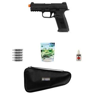 Pistola Airsoft Co2 Herstal Fns-9 Metal + Acessórios + Óleo