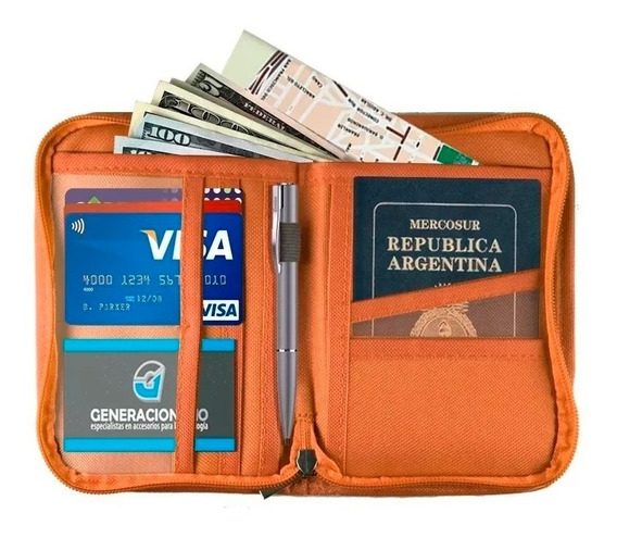 Porta Documentos Pasaporte Tarjetas Organizador Viaje