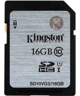 Cartão De Memória Kingston Sdhc 16 Gb P/ Câmeras E Filmadora