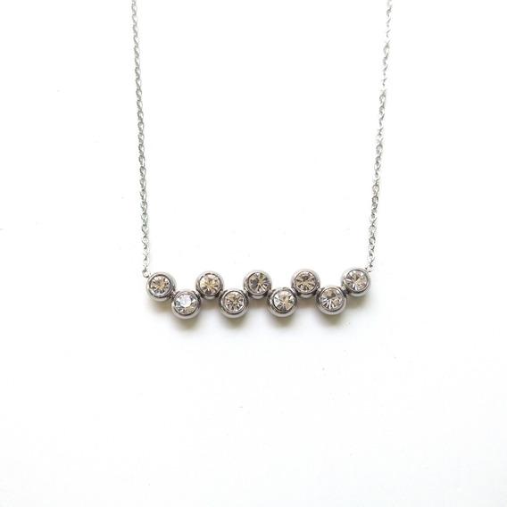 Collar 9 Cristales | Acero Inoxidable