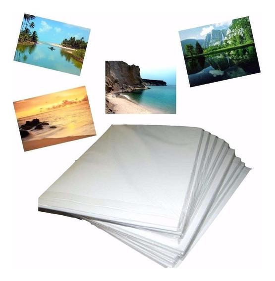 500 Fls Papel Foto Glossy A3 180g+200 Fls Adesivo 130g A3