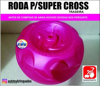 Roda Traseira Rosa P/ Moto Super Cross 6v Bandeirante