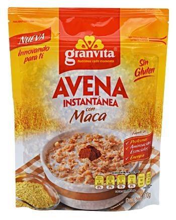 Avena Instantanea Con Maca Sin Gluten 170g Mejora Potencia