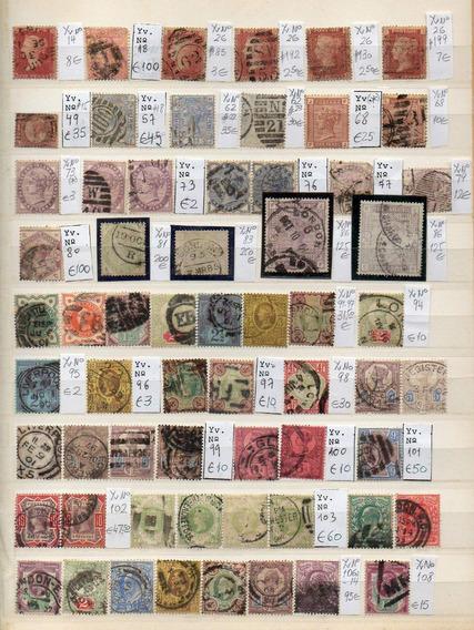 Gran Bretaña 1858/1936. Lote De 119 Sellos Antiguos Usados