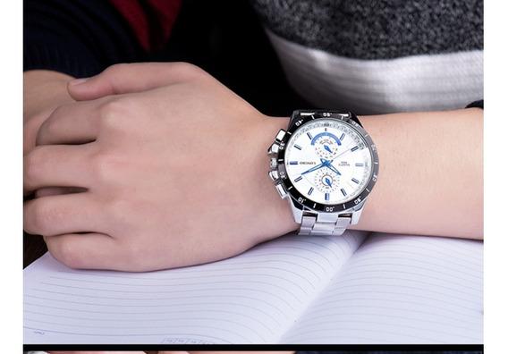 Relógio De Pulso Longbo 8833 Quartz Aço Inoxidável