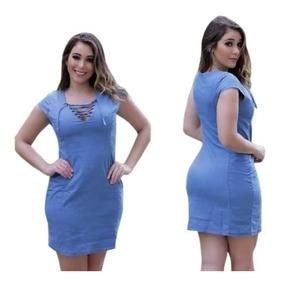 1a1a7cbf85d7 Vestidos Evangelicos - Vestidos Femeninos Azul-aço em Santa Catarina ...
