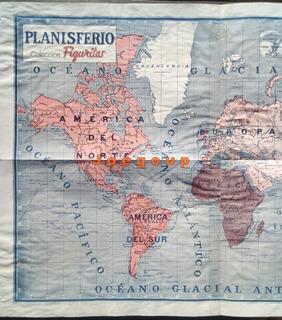 Mapa Planisferio Coleccion Revista Figuritas 1937