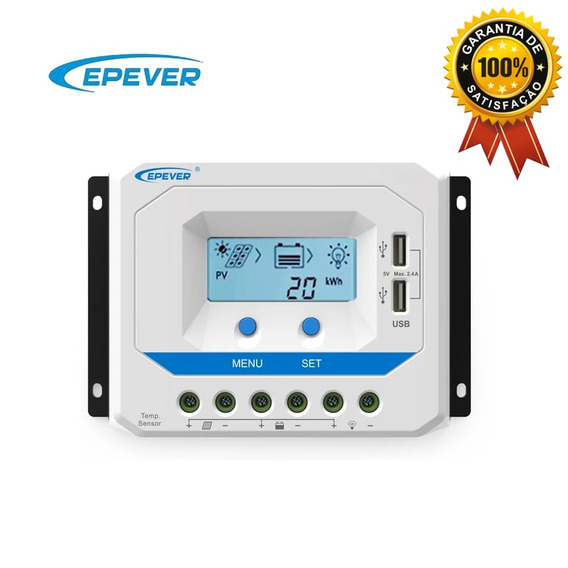 Controlador De Carga Solar Pwm 30a 12v/24v Epever Vs3024au