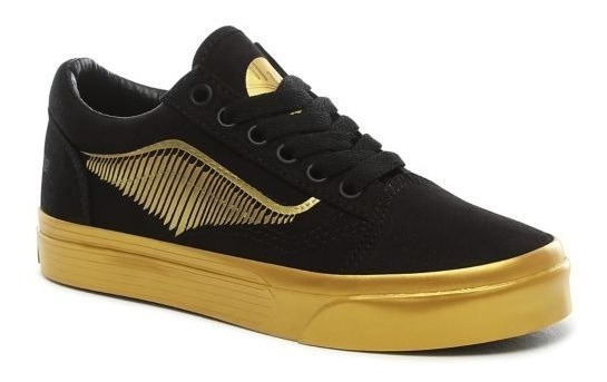 Vans Harry Potter Snitch Dorada Niño Skate Old Skool Howards