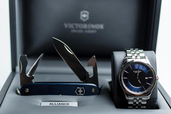 Reloj Victorinox Alliance Con Navaja Suiza Pioneer 241802.1