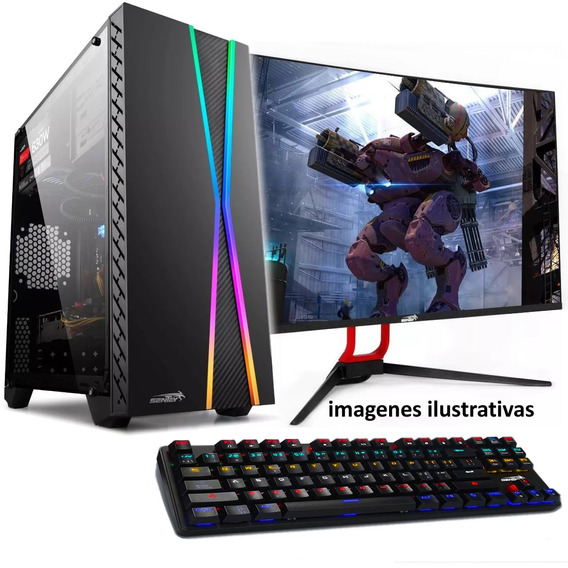 Pc Completa Intel I7 8700 4.2ghz Ssd 240b 8gb Ddr4 Rx550 4gb Gddr5 Gamer