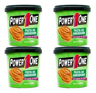 4 X Pasta De Amendoim Power One Sabores 2 = Frete Grátis