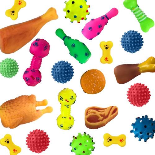 Kit Mordedor Pet 6 Brinquedos De Borracha Para Cães Cachorro