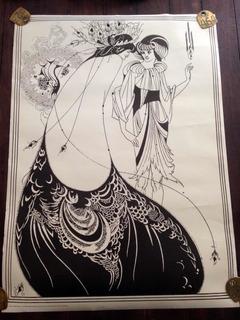 Póster Vintage Aubrey Beardsley Estilo Art Nouveau Año 1971